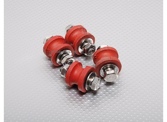 Rubber Mount 26cc 6mm (4 pcs)