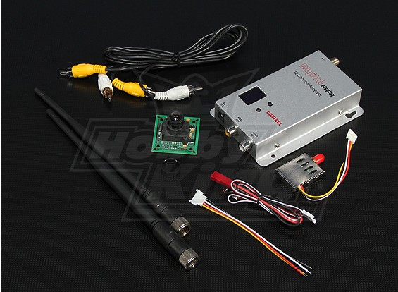 900MHZ 200mW Tx/Rx & 1/3-inch CCD Camera PAL 520TVL