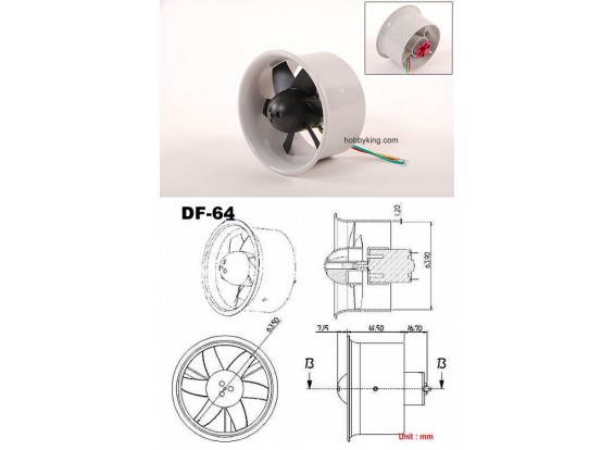 EDF64 with C20 Motor Assembled 144W