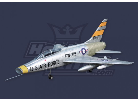 F-100 Super Sabre EDF Jet Kit w/o Motor & ESC (EPO)