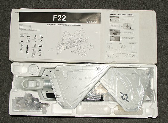 SCRATCH/DENT F-22 EDF Jet 70mm EPO (ARF)
