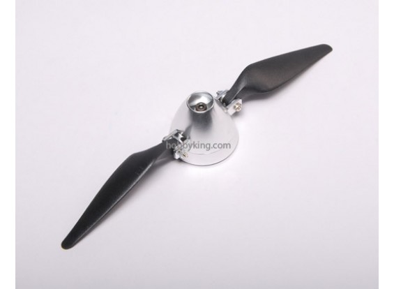 Folding Propeller 9x5 W/ Alloy hub 40mm / 3.2mm shaft