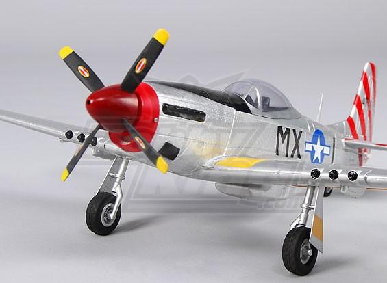 Micro P-51D Mustang w/nav lights 550mm (RTF - Mode 2)