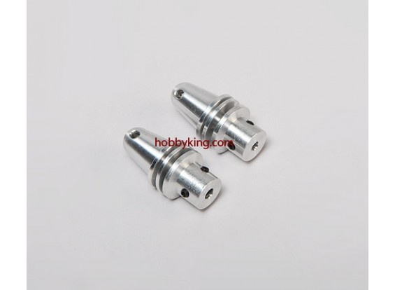 Prop adapter w/ Alu Cone 1/4x28-M4mm shaft (Grub Screw Type)