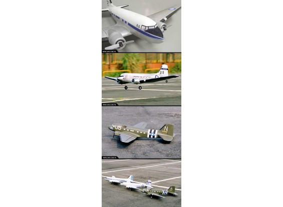 GWS C47 Skytrain Silver Color (Clearout stock)