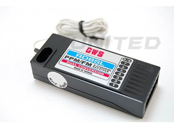 GWS 8ch Dual Conv 35mhz FM Receiver