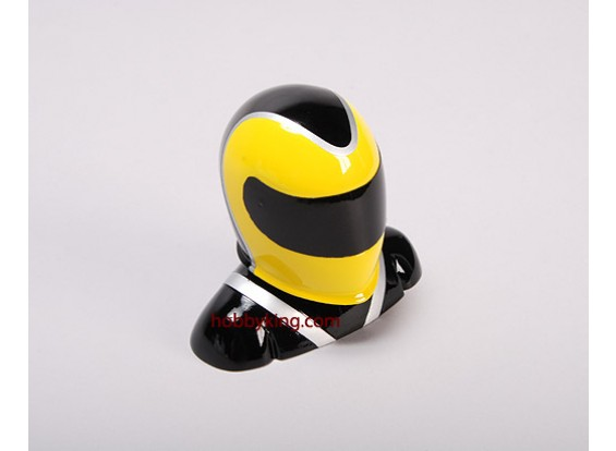 Fibreglass Pilot Model Yellow & Black (X-Small)