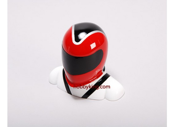 Fibreglass Pilot Model Red & White (X-Large)