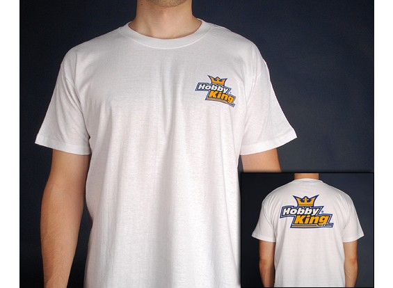 Hobby King T-Shirt WHITE (Medium)