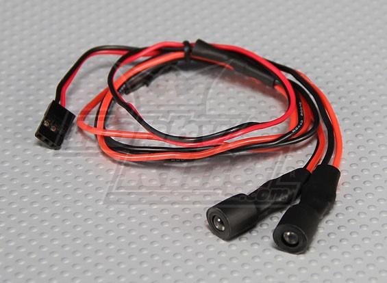 2 Flashing Amber LEDs