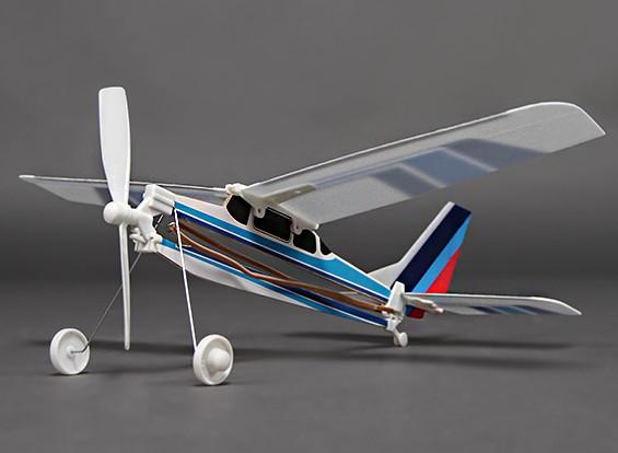 Rubber Band Powered Freeflight 182 Light Aircraft 288mm Span