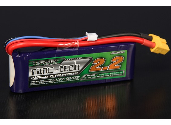 Turnigy nano-tech 2200mah 2S 25~50C Lipo Pack