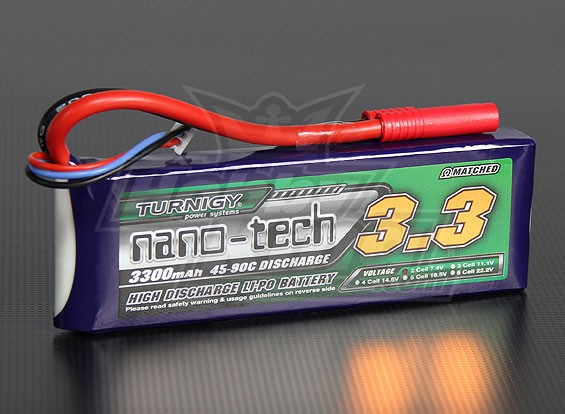 Turnigy nano-tech 3300mah 2S 45~90C Lipo Pack