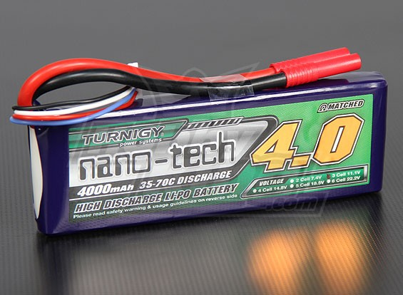 Turnigy nano-tech 4000mah 3S 35~70C Lipo Pack