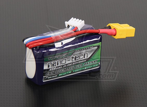 Turnigy nano-tech 850mAh 3S 45~90C Lipo Pack
