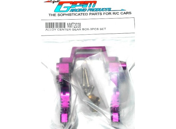 Alloy center gearbox w/ delrin & bronze collars.