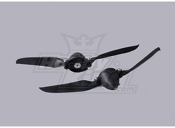 Folding Propeller W/Hub 40mm/4.0mm Shaft 10x6 (2pcs)