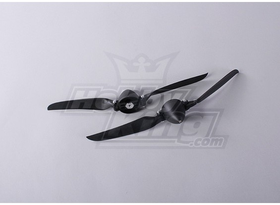 Folding Propeller W/Hub 45mm/4mm Shaft 11x6 (2pcs)
