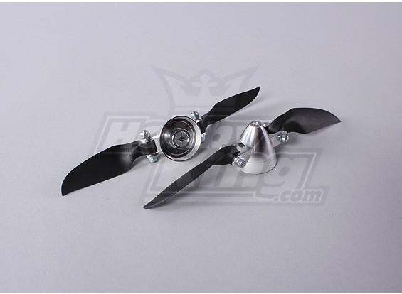 Folding Propeller Assembly 6x4 (Alloy Hub/Spinner) (2pcs/bag)