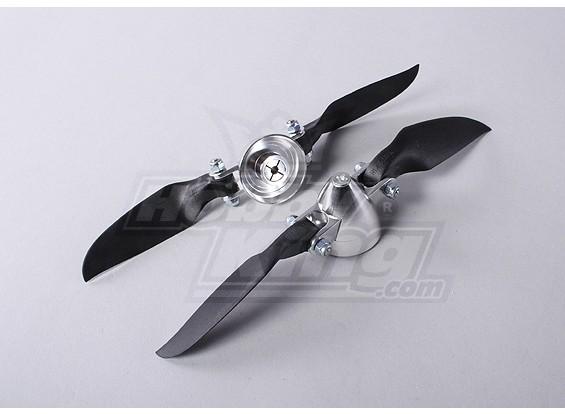 Folding Propeller Assembly 6.5x4 (Alloy Hub/Spinner) (2pcs/bag)