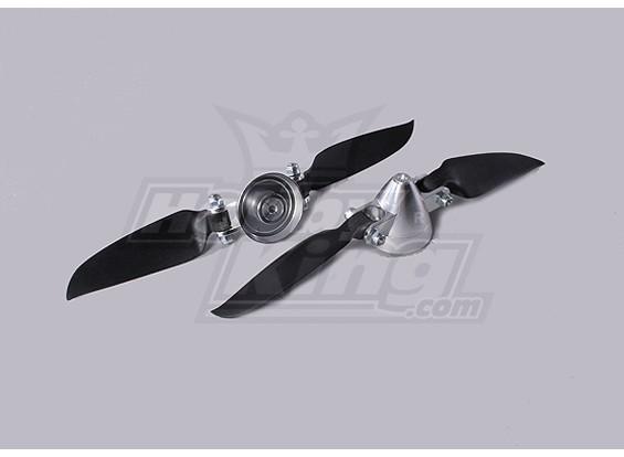 Folding Propeller Assembly 6.5x3 (Alloy/Hub Spinner) (2pc/bag)