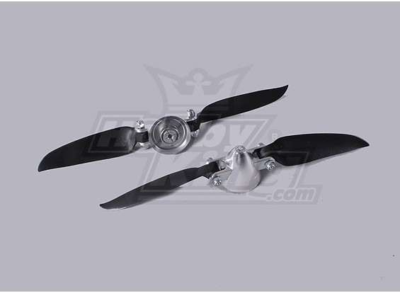 Folding Propeller Assembly 7.3x4 (Alloy/Hub Spinner) (2pc/bag)