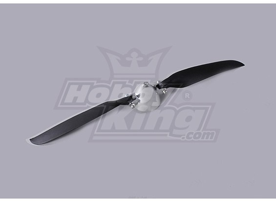 Folding Propeller W/Alloy Hub 45mm/3mm Shaft 12x6 (1pc)