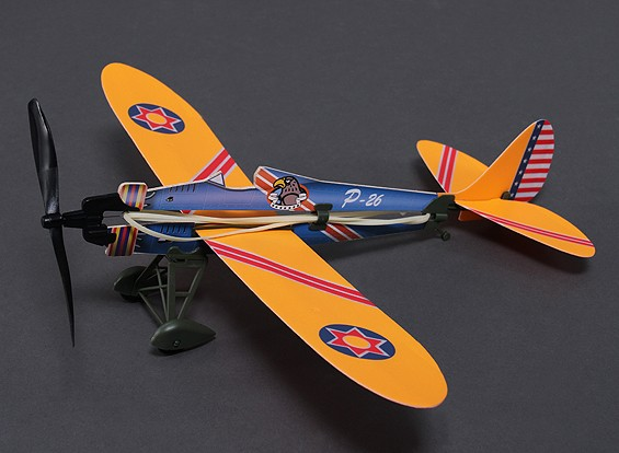 Rubber Band Powered Freeflight P-26 Model 466mm Span