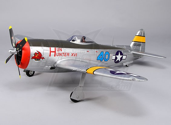Durafly™ P-47 Thunderbolt w/flaps/retracts/lights 1100mm (PNF)