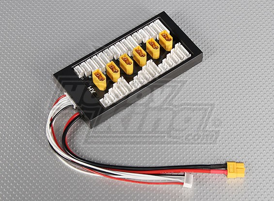 Parallel Balance charging Board for 6 packs 2~6S (XT60)