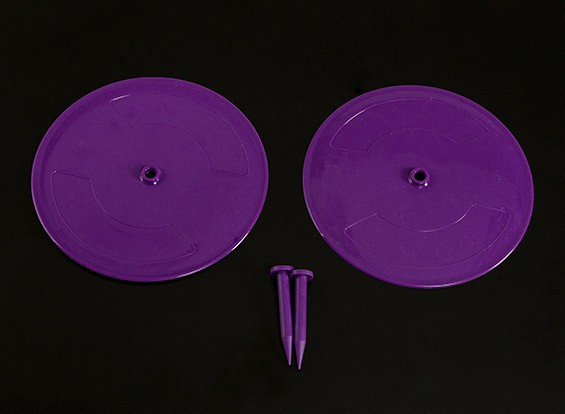 Radio Control Car Track Drift Markers Purple 2 x 200mm