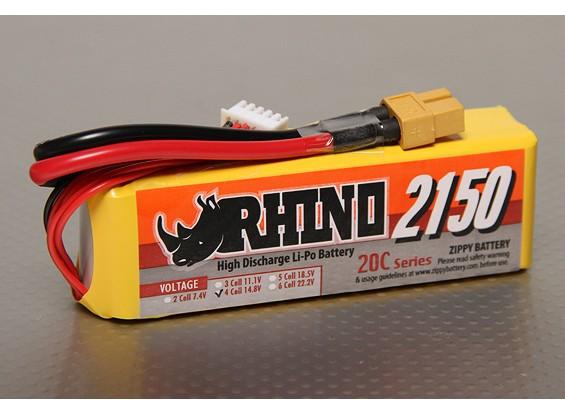 Rhino 2150mAh 4S1P 20C Lipoly Pack
