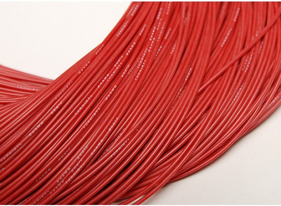 Turnigy Pure-Silicone Wire 24AWG 1m (Red)