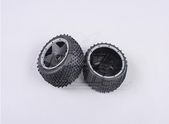 RS260-85023-2 Rear off-road wheel set with heavy-duty beadlock ring (1Pair/Bag)