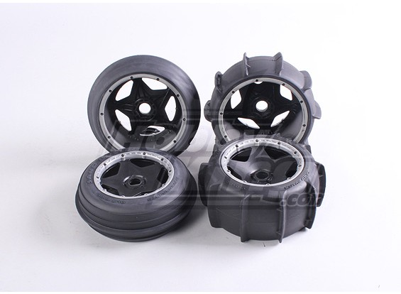 Sand Wheel and Tire Set (4Pcs/Set) - 260 and 260S