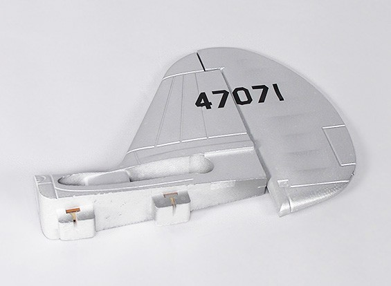 P-40N (Silver) 1700mm - Replacement Rudder