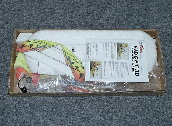 SCRATCH/DENT HobbyKing Fidget Funfly Aerobatic EPP Airplane w/Motor 840mm (ARF)