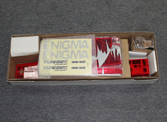 SCRATCH/DENT -  Thrust Vectoring Enigma 3D 960mm (ARF) - Red (UK Warehouse)
