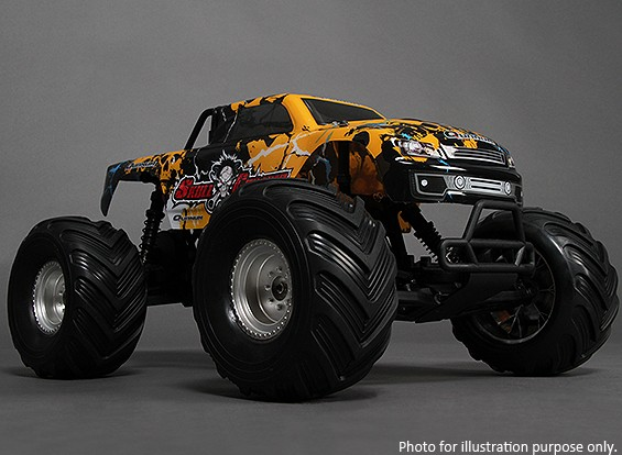 SCRATCH/DENT - 1/10 Quanum Skull Crusher 2WD Brushless Monster Truck (RTR) (UK Warehouse)