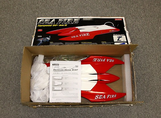 SCRATCH/DENT - Sea Fire Brushless Twin-Hull R/C Boat (662mm) (P&P)