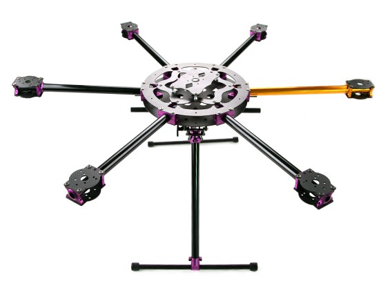SCRATCH/DENT - HobbyKing™ S700 Carbon and Metal Hexacopter Frame with Retractab