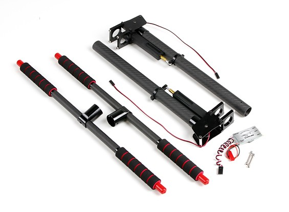 SCRATCH/DENT - Multi-Rotor Metal and Carbon Retractable Landing Gear with Control Unit for 22mm