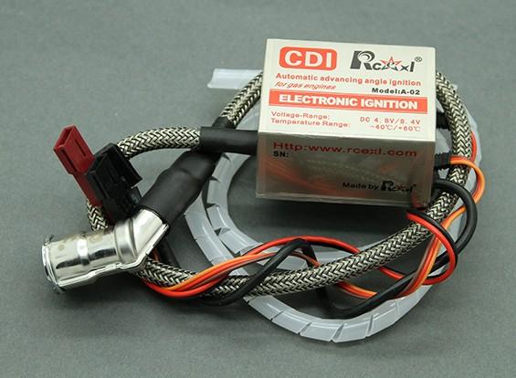 SCRATCH/DENT -  Rcexl Single Cylinder CDI Ignition for NGK CM6-10mm 120 Degree Cap