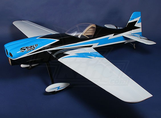 (COMPLETED) Hobbyking Sbach 300 Blue-white Gas 30cc 1850mm (ARF)