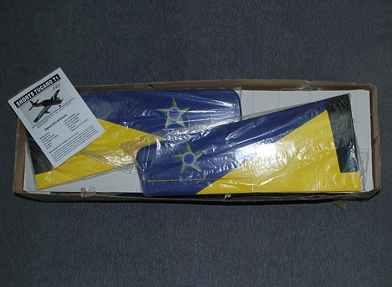 SCRATCH/DENT Embraer Tucano Glass Fiber w/Flaps 1650mm Glow (ARF)
