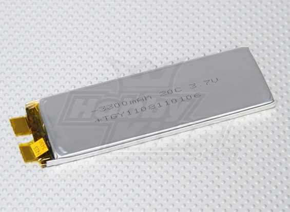 Turnigy 3300mAh 1S 20C Lipoly (Single Cell)