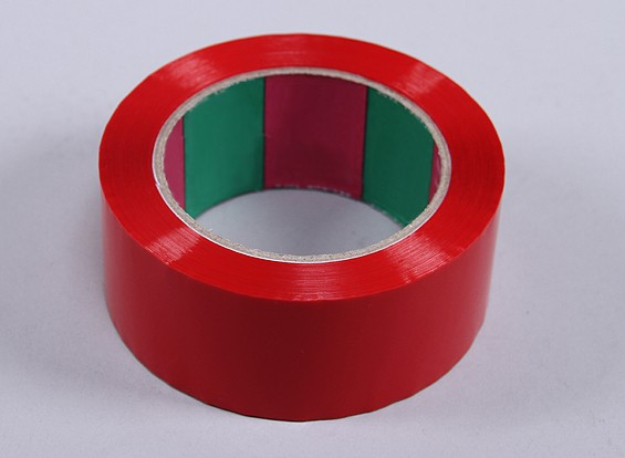 Wing Tape 45mic x 45mm x 100m (Wide - Red)
