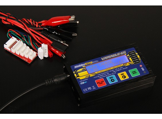 HobbyKing Variable 6S 50W 5A Balancer/Charger w/ accessories