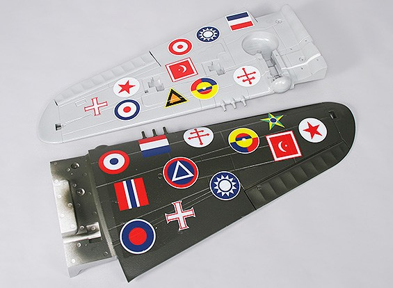 P-40N (Green) 1700mm - Replacement Main Wing