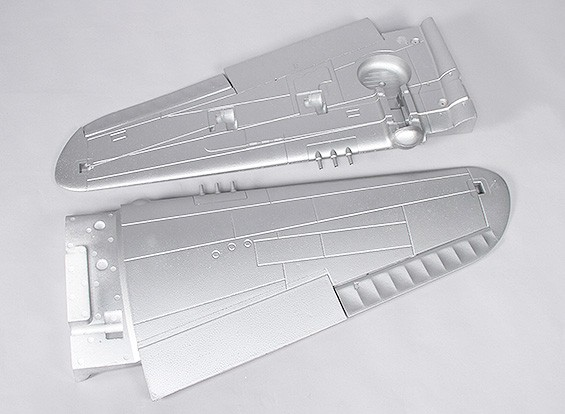 P-40N (Silver) 1700mm - Replacement Main Wing